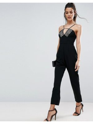 ASOS Jumpsuit with Lace Detail and Peg Leg