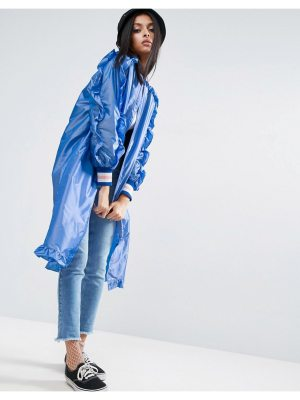 ASOS Long Festival Rainmac With Frills
