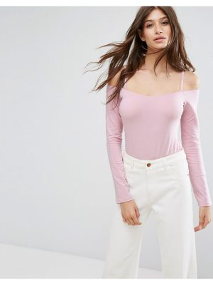 ASOS Long Sleeve Off Shoulder Body with Skinny Strap