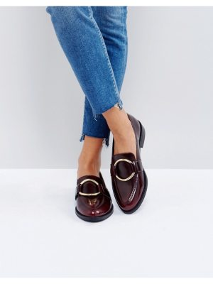 ASOS MAGENTA Leather Loafers