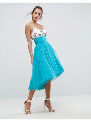 ASOS Midi Tulle Skirt with Button Back Detail