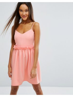 ASOS Mini Dress With Frill Waist Detail