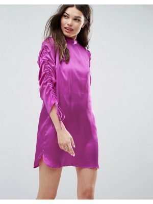 ASOS Mini Shift Dress with Tie Detail Sleeves