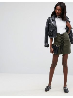 ASOS Mini Skirt with Lace Up Corset Detail