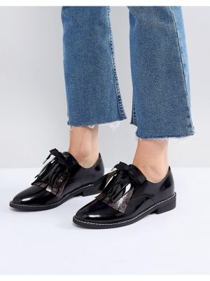 ASOS MONDAY Leather Flat Shoes