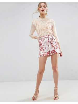 ASOS Occasion Floral Shorts with Tie