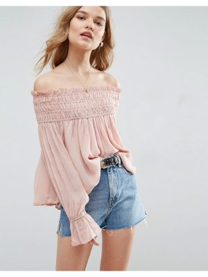 ASOS Off Shoulder Top with Shirring