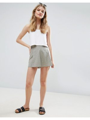 ASOS Pleated Linen Culotte Shorts