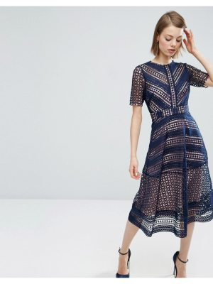 ASOS DESIGN asos premium occasion lace midi dress