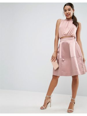 ASOS Prom Skirt in Structured Satin with Seam Detail