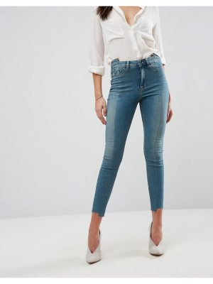 ASOS DESIGN asos ridley high waist skinny jeans with seamed split front