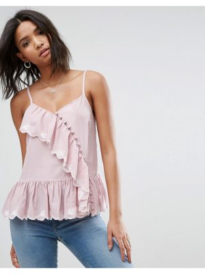 ASOS Ruffle Cami with Embroidery