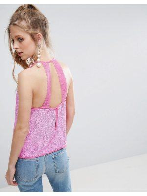ASOS Sequin Cami with Lace Open Back