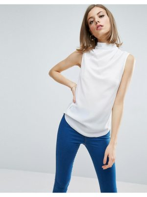 ASOS Sleeveless Top with Ruched High Neck