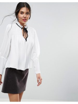 ASOS Smock Blouse With Contrast Tie