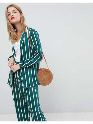 ASOS Soft Blazer in Green Stripe