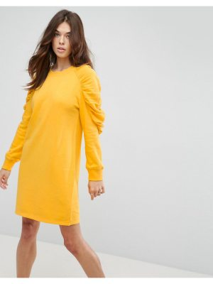 ASOS DESIGN asos sweat dress with ruched arms