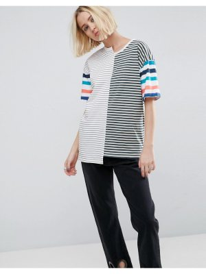 ASOS T-Shirt in Oversized Fit and Mix and Match Stripes