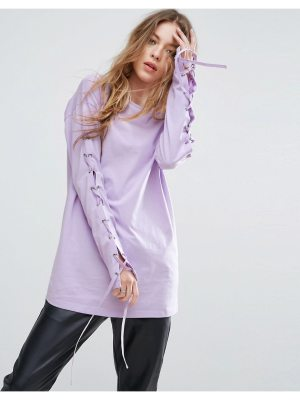 ASOS T-Shirt with Corset Lace Up Sleeve