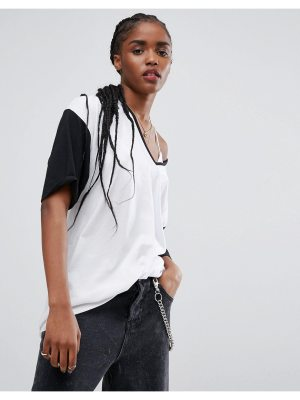 ASOS T-Shirt With V Neck And Tipping