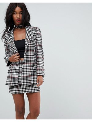 ASOS Tailored Mansy Blazer in Prince of Wales Check