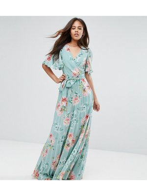 ASOS Tall ASOS TALL Pleated Maxi Dress in Floral Print