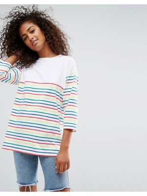 ASOS Top in Cutabout Rainbow Stripe