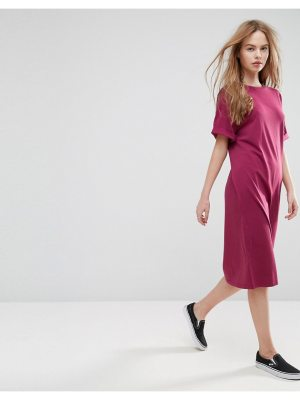 ASOS Ultimate Midi T-Shirt Dress With Rolled Sleeves