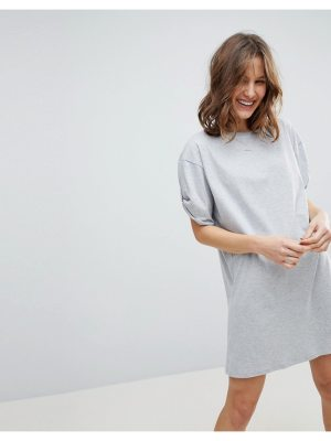 ASOS Ultimate Rolled Sleeve T-Shirt Dress With Tab
