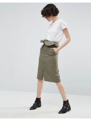 ASOS Midi Skirt with Paperbag Waist