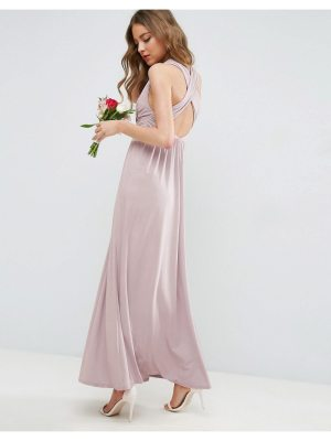 ASOS DESIGN Bridesmaid drape twist back maxi dress