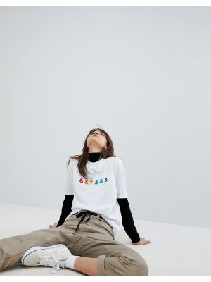 ASOS X GLAAD Relaxed T-Shirt With Embroidery