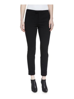 ATM Anthony Thomas Melillo Ponte Slim Cuffed Ankle Pants