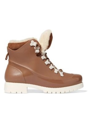 Australia Luxe Collective rubstep shearling and rubber boots