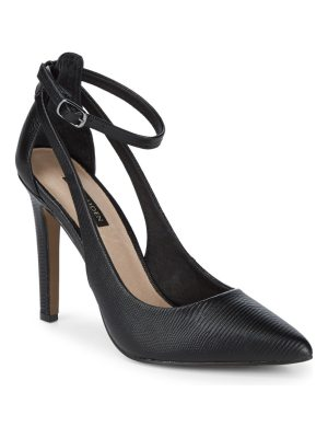 AVA & AIDEN Cut Out Classic Leather Pumps