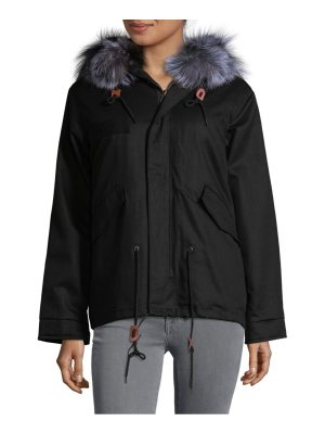 AVA & KRIS Cotton Dani Dyed Fox Fur Parka