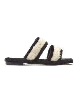 Avec Moderation Vail shearling and faux-fur slides