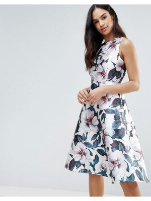 AX Paris Ax Paris Floral Midi Skater Dress