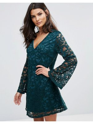 AX Paris Lace Dress With Fluted Sleeves