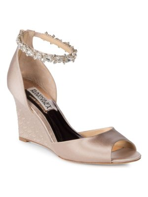 Badgley Mischka Tahlia Bejeweled Ankle-Strap Sandals