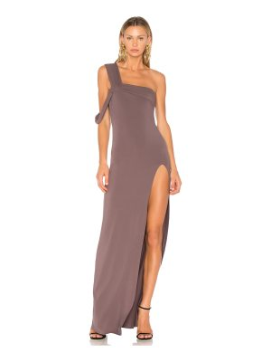 Baja East One Shoulder Maxi Dress