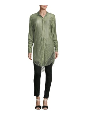 Baja East Striped Snap-Front Shirt