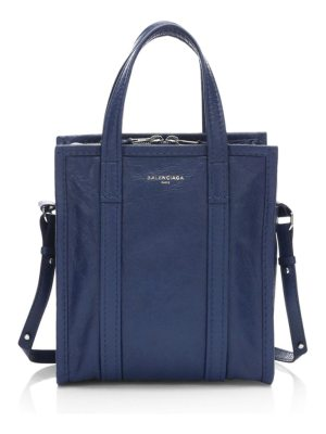 Balenciaga xs bazar leather satchel