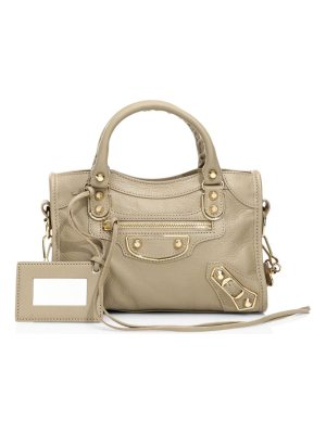 Balenciaga metallic edge mini city leather satchel