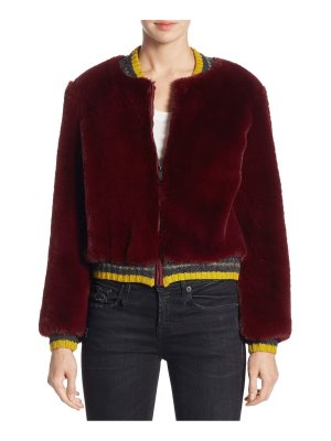 Barber donica faux fur bomber jacket