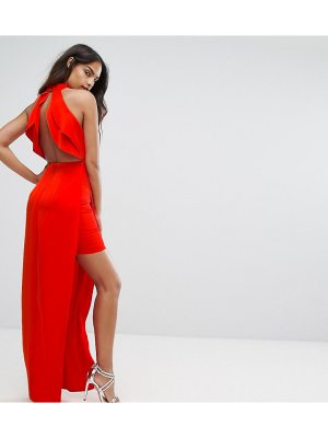 Bariano High Neck Maxi Dress With Open Back Detail
