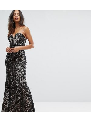 Bariano Sweetheart Maxi Dress In Paneled Lace