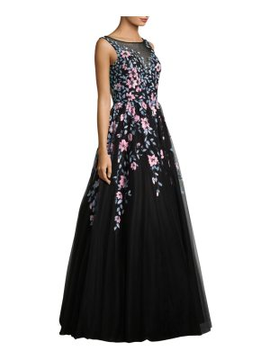 Basix Black Label embroidered floor-length gown
