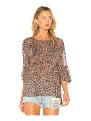 BCBGeneration Ruffle Hem Top In Black Olive