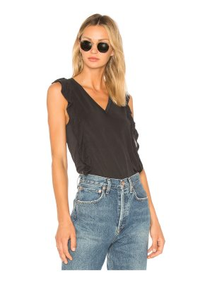 BCBGeneration Ruffle Sleeve Top In Black